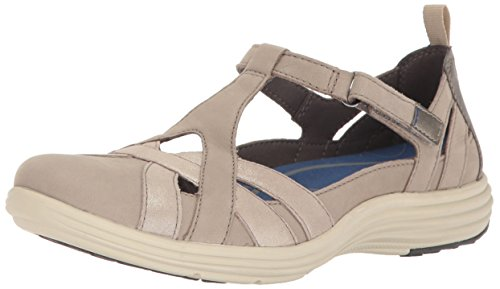 Aravon Women's Beaumont Fisherman Sandal, Stone, 8 2A US