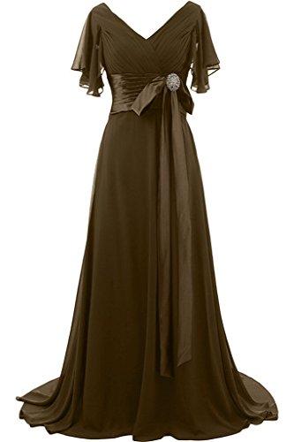 a V giromanica breve scollo sera Cioccolata preferiti Prom ivyd pietre fiocco lunga da con abito donna Fest ressing q1WwHA