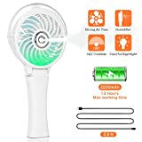 COMLIFE Handheld Misting Fan Portable Hand Fan-Mini Rechargeable Battery Operated Fan, Foldable Personal Travel Fan with Cooling Humidifier and Colorful Nightlight for Camping, Office, Outdoor