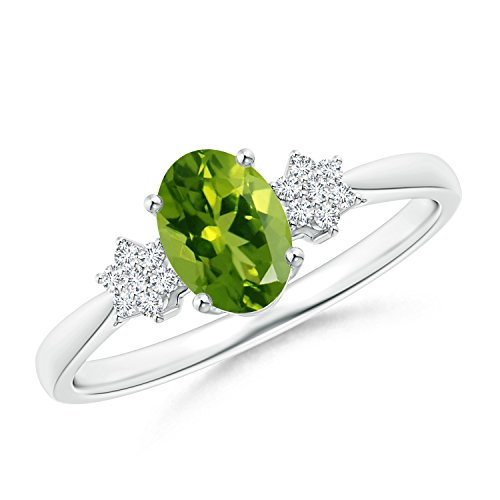 Oval Diamond Cluster Ring - 2