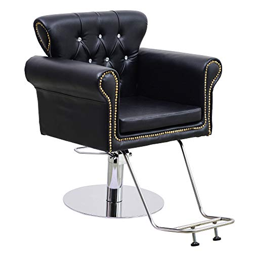 BarberPub Hair Spa Styling Barber Chair Salon Beauty Equipment 8899 (Black)