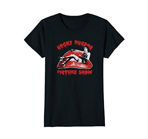 Womens Rocky Horror Picture Show Lip Portrait Small Black (Picture Womans Rocky Horror)
