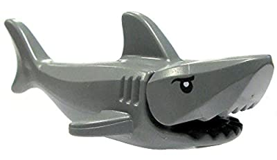 "LEGO Parts - Shark ""Great White"". Dark grey with gills and printed eyes."