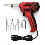 Weller 9400PKS 120V Dual Heat 140/100W Universal Soldering Gun Kit with 6 Second Heat Up Time and LED Lighting