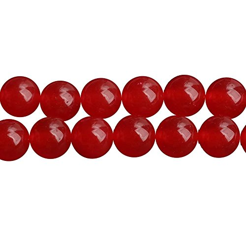 Red Chalcedony Semi-Precious Stones Round 6mm Beads Materials for Fashion Jewelry Crafts DIY Making One Strand 15 inch APX 60 Pcs