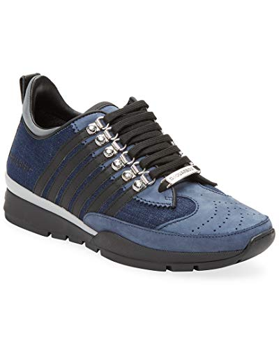 Dsquared2 Leather Jeans - DSQUARED2 Denim Lavato Nabuk Sneaker, 40