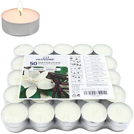 Smart Planet® Velas Ambiente Navidad – Pack de 50 velas de té con ...