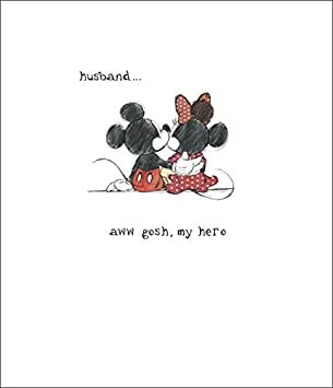 Mickey mouse minnie mouse husband my hero birthday card: Amazon.ca