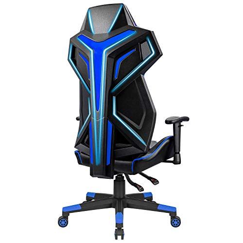 Furniwell Gaming Chair Ergonomics Computer Desk Chair High Back Mesh Racing Office Chair Breathable Executive Swivel Chair PC Adjustable Chair with Adjustable Armrest and Lumbar Support (Blue) Uncategorized