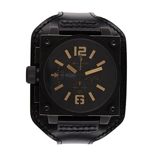 Coffret reloj Welder hombre K-23 modelo Cronógrafo negra y marrón - 1779/K23 CB bk-gd: Amazon.es: Relojes