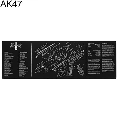 yunbox299 Professional Gaming Mouse Mice Pad Mat, yunbox299 12x36inch Gun Cleaning Bench Mat with Parts Diagram for AR15 AK47 Remington 870 AK47