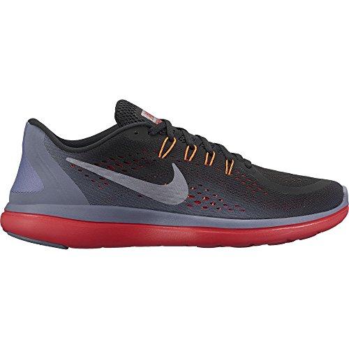 NIKE Men's Flex RN 2017 Running Shoe Black/Metallic Cool Grey/Light Carbon Size 10 M US by NIKE