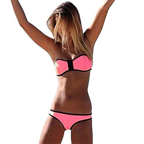 Hihihappy Trendy 2pcs Bikini Sets Women B01-pinkMedium sexy