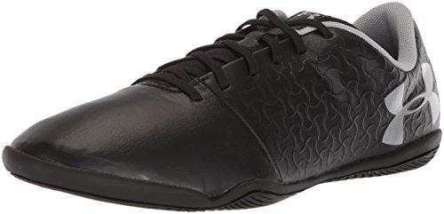 Under Armour Men's Magnetico Select Indoor Soccer Shoe, Black (001)/Metallic Silver, 12