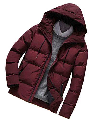 [해외]전지 남성 경량 퀼트 후드 다운 재킷 수납 가능 패딩 코트 / omniscient Mens Lightweight Quilted Hooded Down Jacket Packable Puffer Coats