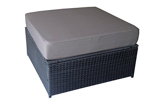 Mcombo Outdoor Rattan Wicker Couch Sofa Patio Furniture Chair Garden Sectional Set (Ottoman-Grey) 6089