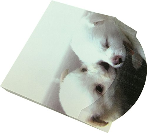 Samoyed Note (4A self-sticky notes, 3D printed with Samoyeds dog, 95mmx85mm, 100 sheets/pad, 1 pad/pack (4A 8072))