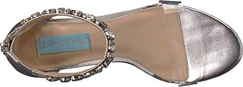 Blue by Betsey Johnson Women's SB-Drew Heeled Sandal Silver Metallic genuine RWn3hEHlia
