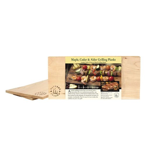 Nature's Cuisine NC009 14 by 5-1/2-Inch Cedar/Alder/Maple Combo Outdoor Grilling Plank, 1 Each by Nature's Cuisine
