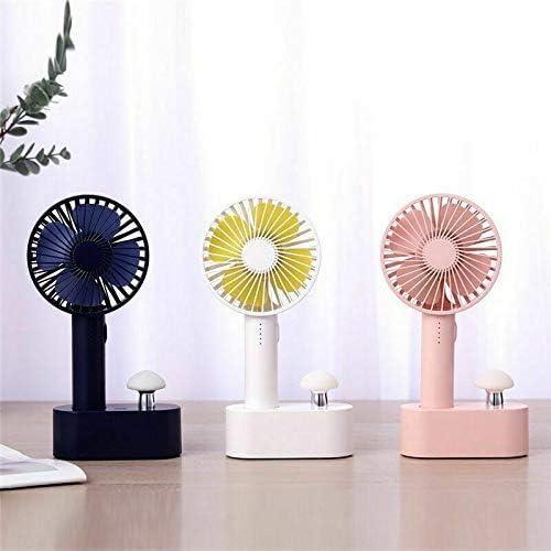 HSGei Mushroom Luce Portatile USB Mini Ventilatore 5 velocità del Vento Naturale Aria tenuto in Mano del Dispositivo di Raffreddamento,Bianca Blue