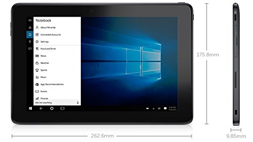 Dell Venue 10 Pro 5056 UNLOCKED AT&T, Verizon, T-Mobile, 10.1 Inch Tablet (Intel X5-Z8500, 4GB Ram, 128GB SSD, Dual Camera, Mini HDMI, USB 3.0) Win 10 Pro (Certified Refurbished)