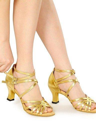 ShangYi Tanzschuhe Nicht Anpassbare - Keilabsatz - Kunstleder - Latin - Damen Gold