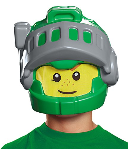 [UHC Boy's Lego Aaron Nexo Knights Theme Party Halloween Green Mask] (Ultimate Party Animal Halloween Costume)