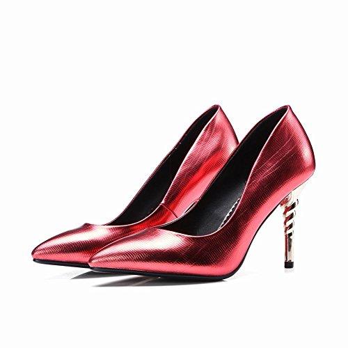 Scarpe Da Donna Sexy Latas Toe Stiletto Con Tacchi Alti Rosso