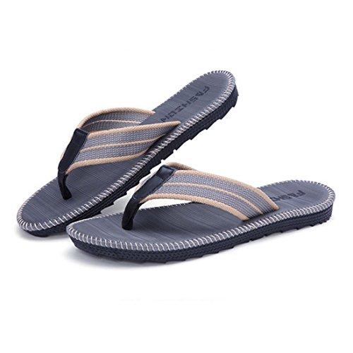 New Men's Flip Flops Beach Sandals Lightweight EVA Sole Comfort Thongs