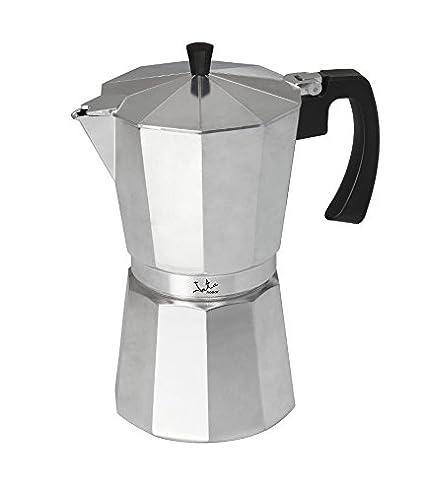 Jata Hogar Cafetera Italiana, Aluminio, Plateado, 18.399999999999999x14.5x26.3 cm