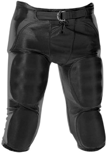 Youth Dazzle Football Pants w/ Pads Black/XSM ()