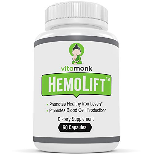 HemoLiftTM - Advanced Iron Supplement for Women - Strong Support for Anemia - Made with Iron Ferrous Fumarate for Healthy Red Blood Cells and Hemoglobin - Also with Ginseng, Folic Acid, B Complex (Best Medicine For Anemia)