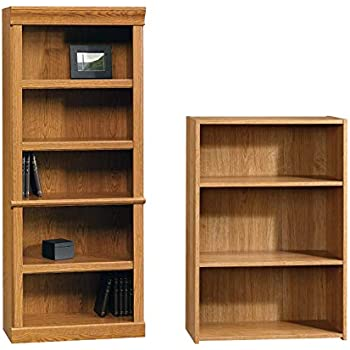 Carolina Oak Sauder Orchard Hills Library Bookcase with Doors