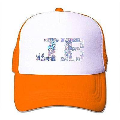 Custom Justin Bieber JB Photo Trucker Hat Orange Sun Hat