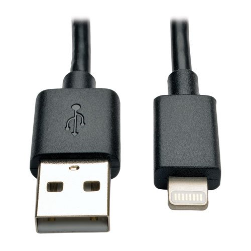 - Tripp Lite Apple MFI Certified 10 inch Lightning to USB Cable Sync Charge iPhone/iPod/iPad - Black (M100-10N-BK)