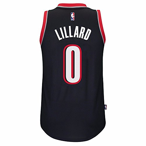 Portland Trailblazers Adidas NBA Damian Lillard #0 Road Swingman Jersey (Black) 2XL