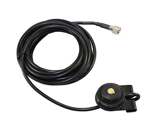 Tram 1247-B MUHF Black Trunk Radio Mount Mini UHF NMO Mobile Radios GM300 Radius M120 M130 Maxtrac SM50 SM120 CM200 CM300 PM400 CDM750 CDM1250 CDM1550LS+ Mini UHF connector with 17 feet or RG-58 cable