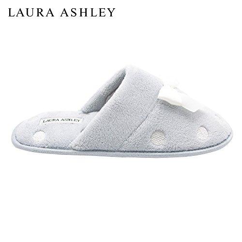 Laura Ashley Mesdames Brodé Éponge Éponge Pantoufle Pastel Bleu