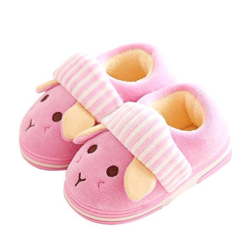 Cute Bunny Slipper Boots Fluffy Velvet Terry Foam Animal Slippers Non Slip House Shoes Toddler/Little Kid