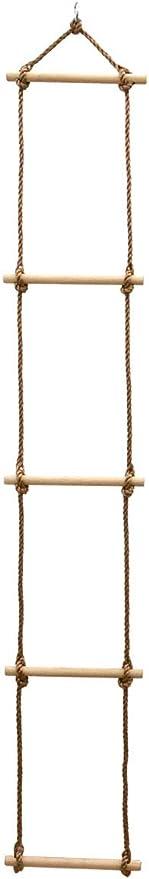 LittleTom Escala de Cuerda 188x30 cm Escalera de Mano para ...