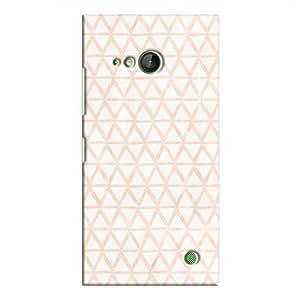 Cover It Up - Triangle Print Orange Lumia 730 Hard Case