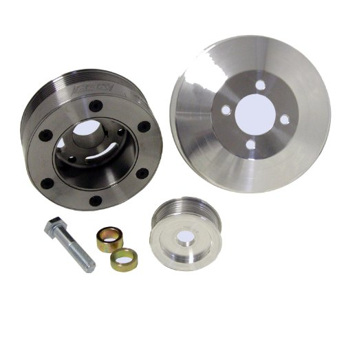 BBK 1564 Underdrive Pulley Kit for Ford Mustang GT/Cobra 4.6L - 3 Piece SFI Approved Crank Pulley Plus Aluminum WP and Alt - Mustang Bbk Underdrive Pulley