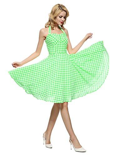 halter neck 50s dress - 9
