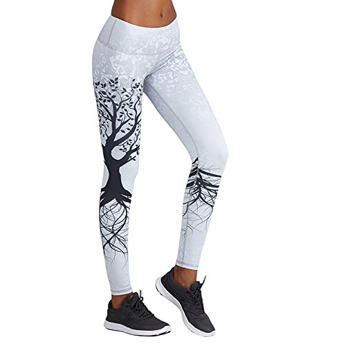 Lcoco&Dream Printed Women's Full Length Yoga Pants Workout Gym Leggings Running Capris