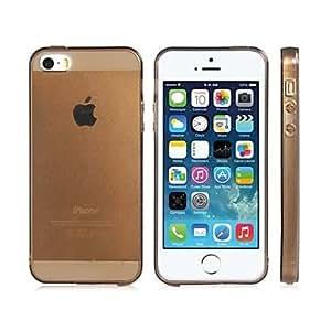 CECT STOCK Brillante color TPU transparente suave de la caja para el iPhone 5S / 5 (varios colores) , Amarillo