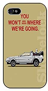 LJF phone case iPhone 5C You won't need roads where we are going - black plastic case / Walt Disney And Life Quotes, future, back to