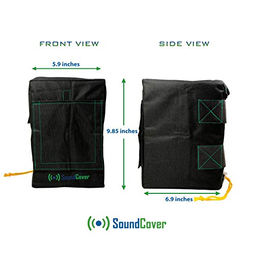 TWO Heavy Weight Waterproof UV Protection Speaker Covers for Outdoor Speakers with Sound Flap Option: Yamaha NS-AW194 & Polk Audio Atrium 4 by SoundCover