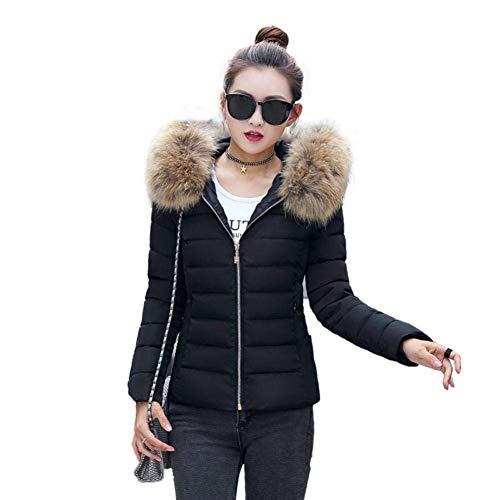 Lannister Fashion Manteaux Doudoune Femme Hiver Unicolore Outwear Confort Manteau Jacket Costume Warm paissir Moulants Outerwear Jeune Mode  Capuchon Manches Longues Doudoune Manteau Schwarz