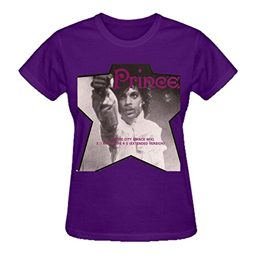 Erotic City Prince Custom T Shirt Design Crew Neck Purple (Party City In Coral Springs)