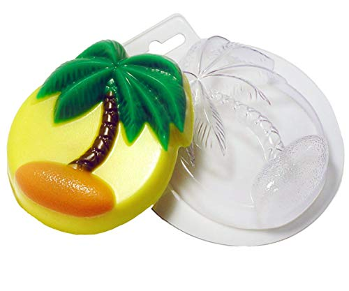 1pc Palm Tree Marine Sea Beach Plastic Soap Making Mold Gift for Her for Him Mould 90x76x24mm